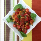 Chickpea Salad with Chorizo and Cherry Tomatoes www.thefoodiecorner.gr
