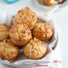 Savoury Muffins with Cheddar, Sundried Tomatoes and Pine Nuts www.thefoodiecorner.gr