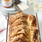 Cheesy Bread and Butter Pudding with Yellow Pepper Jam www.thefoodiecorner.gr
