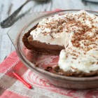 Chocolate Pie with Slow Cooker Chocolate Custard www.thefoodiecorner.gr