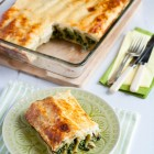 Spinach and Anthotyro Cheese Cannelloni with a Yogurt Topping www.thefoodiecorner.gr