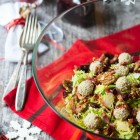 Brussels Sprout Salad with Bacon, Cranberries and Stilton Truffles www.thefoodiecorner.gr