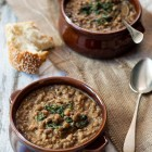 Slow Cooker Lentil Soup with Peanut Butter and Bulgur Wheat www.thefoodiecorner.gr