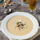 Potato Soup with Beer, Kasseri Cheese and Cured Pork www.thefoodiecorner.gr