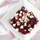 Spiralizer Beet Noodle Salad with Feta and Sugared Cumin Walnuts www.thefoodiecorner.gr