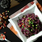 Braised Red Cabbage with Apple, Dates, Pomegranate and Pistachios www.thefoodiecorner.gr