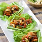 Lettuce Wraps with Sweet and Sour Shrimp www.thefoodiecorner.gr