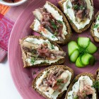 Sardine Crostini with Horseradish Cream Cheese and Easy Onion Chutney www.thefoodiecorner.gr