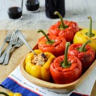 Tex Mex Stuffed Peppers with Tuna, Kidney Beans and Sweet Corn www.thefoodiecorner.gr