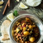 Slow Cooker Potato Chickpea Beet Greens Curry www.thefoodiecorner.gr