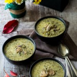 Slow Cooker Vegetarian Magiritsa (Greek Easter Soup) with Mushrooms www.thefoodiecorner.gr